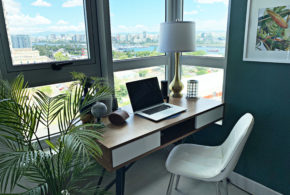 Plentiful Views Atlantis | San Juan Puerto Rico | Master Bedroom Workspace
